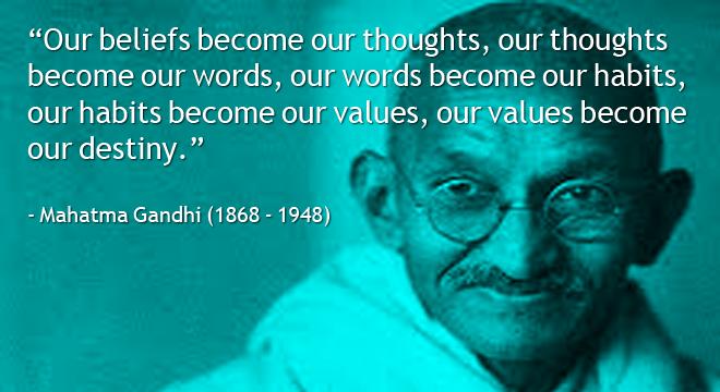 Gandhi-on-beliefs